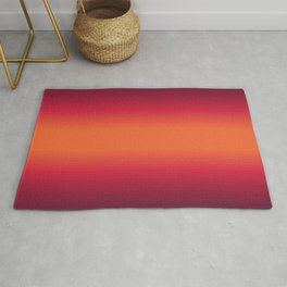 Sunset Tie Dye Gradient Colors Spectrum Harmony Rug
