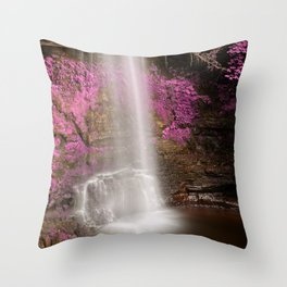 Pink Glencar Falls Throw Pillow