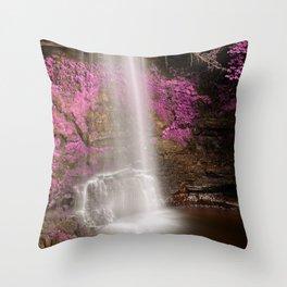 Pink Glencar Falls Throw Pillow