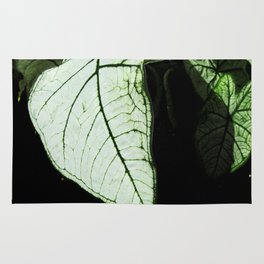 White Leaves Rug