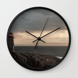 Peeling Lighthouse Wall Clock
