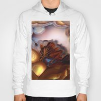 agate Hoodies featuring Colorful Gemstone by Kristiana Art Prints
