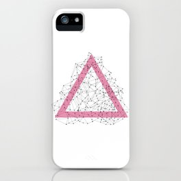 Triangle dots iPhone Case
