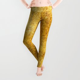 Pixillated Gold Foil Leggings