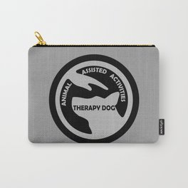 Animal Assisted Activities  - THERAPY DOG logo black white Carry-All Pouch