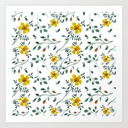Little yellow flowers Art Print