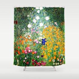 Flower Garden by Gustav Klimt vibrant Shower Curtain