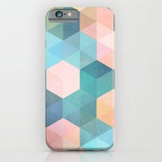 Child's Play 2 - hexagon pattern in soft blue, pink, peach & aqua iPhone 6 Slim Case