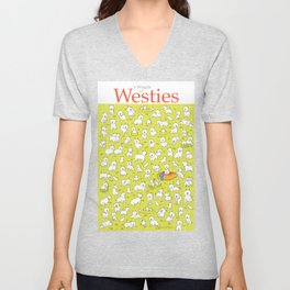 A Waggle of Westies Unisex V-Neck