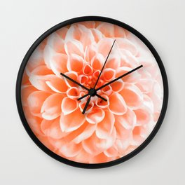 Digital Illustration of a Floral Bouquet with a Light Orange Chrysanthemum in the Centre Wall Clock