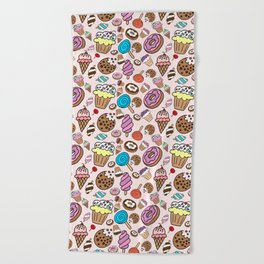 Desserts and Sweets Beach Towel