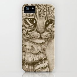 Ocelot Watching, by Ave Hurley iPhone Case