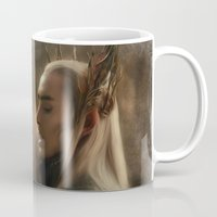 thranduil Mugs featuring Thranduil by Andi Robinson