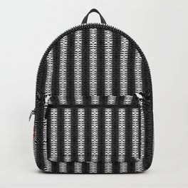 Abstract Tribal Zebra Pattern Backpack