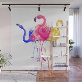 Catwalk Flamingos Wall Mural