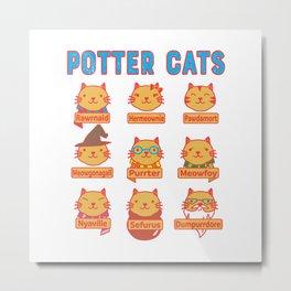 Harry Cats Metal Print