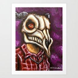 Goat Skull Dude Art Print