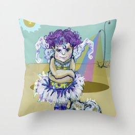 Bestiolas 3 (Little Creature) Throw Pillow