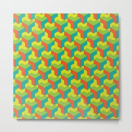 City of colorful blocks Metal Print
