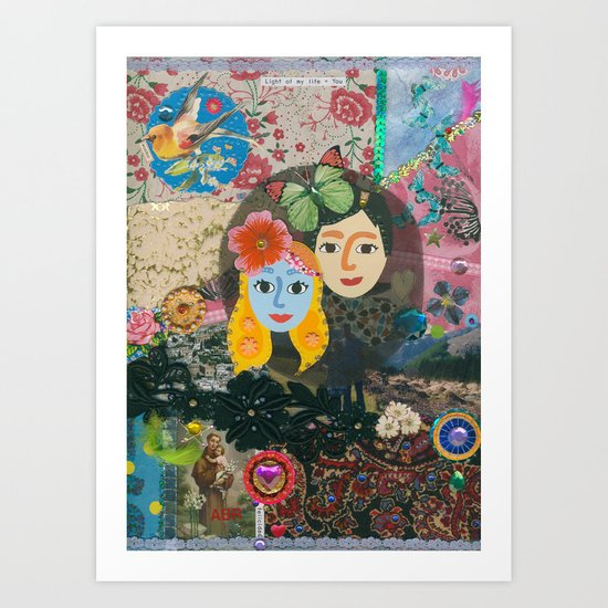 Paper Dollies - Couple Art Print