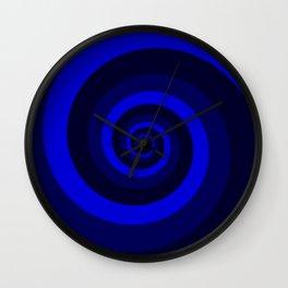 blue vortex Wall Clock