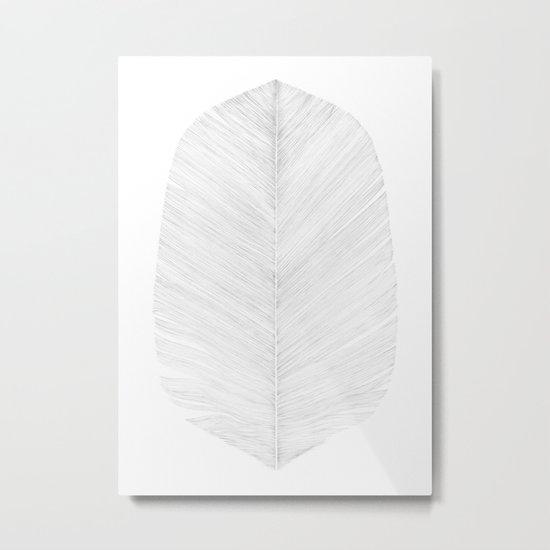 WHITE FEATHER Metal Print