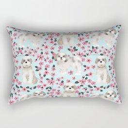Shih Tzu dog breed florals pattern cherry blossom spring pet friendly gifts Rectangular Pillow