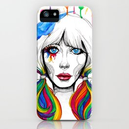 Zooey - Twisted Celebrity Watercolor iPhone Case