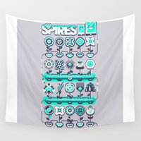 spires Wall Tapestries featuring SPIRES IRRIGATION 2015 by Spires