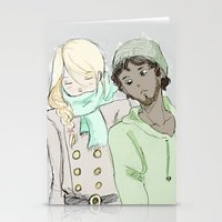 les mis Stationery Cards featuring pRouvaire Les Mis by Pruoviare