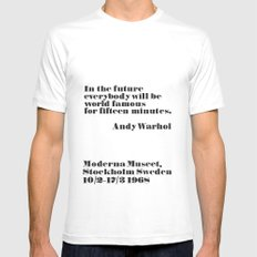 In the future White MEDIUM Mens Fitted Tee