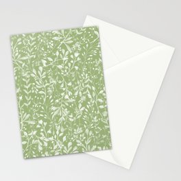 Forever Spring Pattern | Warm Spring Green Stationery Cards