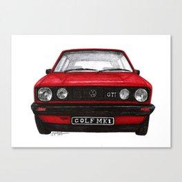 Golf Mk1 Canvas Print