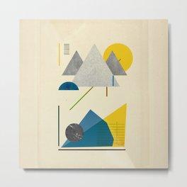 Triangle polygon minimal design poster print Metal Print