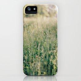 Field of green grass iPhone Case
