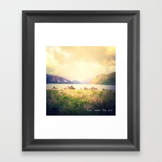 ...Here Come the Sun Framed Art Print