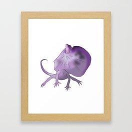 NO _______??!! frill neck Framed Art Print