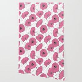 Modern Flowers Pattern Wallpaper