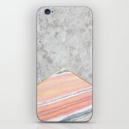 Concrete Arrow Pink Marble #289 iPhone Skin