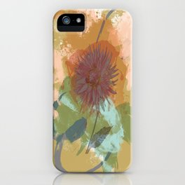 Autumnal Brushstrokes, Abstract Floral Art iPhone Case