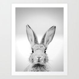 Cute Rabbit, Nursery Art Art Print