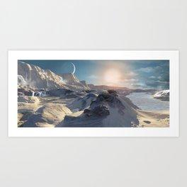 A Hypothetical Planet Orbiting Beta Hydrii Art Print
