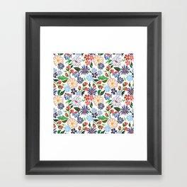Springtime Floral Framed Art Print