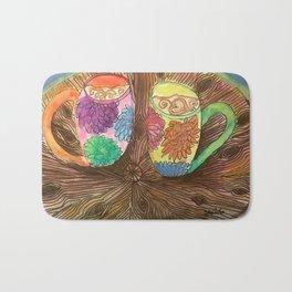 Cafe Latte for 2 Bath Mat