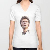 david tennant V-neck T-shirts featuring David Tennant by Darina Nossova