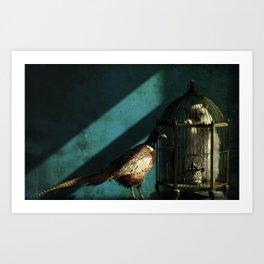 Clever Bird Art Print