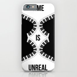 Time Is Unreal Modern Abstract iPhone Case