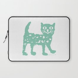 Mint cat drawing, cat drawing Laptop Sleeve