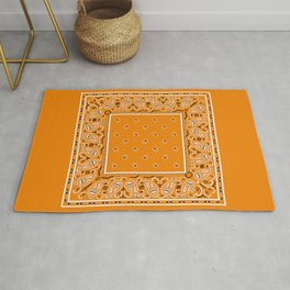 Citrus Orange Bandana Rug