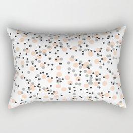 Polka Dot Print Rectangular Pillow